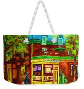 Little Shop On The Corner Weekender Tote Bag