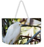 Little Snowy Egret Weekender Tote Bag