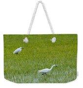 Little White Egret Weekender Tote Bag
