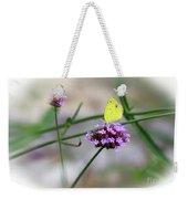 Little Yellow Butterfly On Verbena Weekender Tote Bag