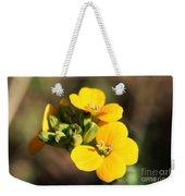 Little Yellow Flowers Weekender Tote Bag