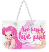 Live Happy Test Weekender Tote Bag