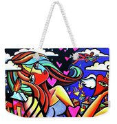Live Life On Fire Weekender Tote Bag