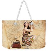 Live Music Pinup Singer Performing On Gig Guide Weekender Tote Bag