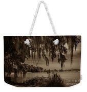 Live Oak Tree Spanigh Moss Sepia Silhouette Weekender Tote Bag