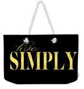 Live Simply Black Gold Weekender Tote Bag
