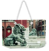 Liverpool Chinatown - Chinese Lion D Weekender Tote Bag