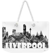 Liverpool England Skyline Weekender Tote Bag