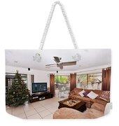 Living Room At Christmas Weekender Tote Bag