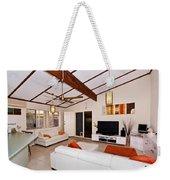 Living Room With Sloping Ceiling Weekender Tote Bag