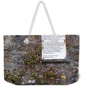 Living Wall At Donegal Castle Ireland Weekender Tote Bag