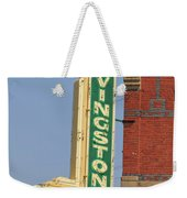 Livingston Bar And Grill Old Neon Sign Montana Weekender Tote Bag