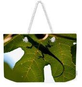 Lizard On A Fig Leaf Weekender Tote Bag