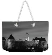 Ljubljana Castle In Black And White Weekender Tote Bag