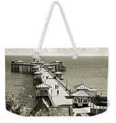Llandudno Pier North Wales Uk Weekender Tote Bag
