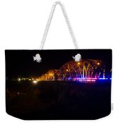 Llano Bridge At Night Weekender Tote Bag