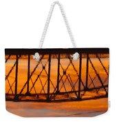 Llano Bridge Reflection Weekender Tote Bag