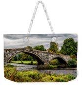 Llanrwst Bridge Panorama Weekender Tote Bag