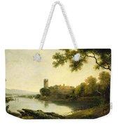 Llyn Peris And Dolbadarn Castle, North Wales Weekender Tote Bag