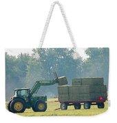 Loading Hay At Dusk Weekender Tote Bag