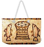 Loaves And Fishes Mosaic Weekender Tote Bag