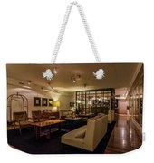 Lobby Of Hotel With Chairs And Tables Weekender Tote Bag