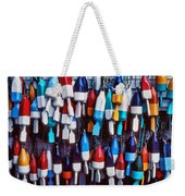 Lobester Trap Bouys Weekender Tote Bag by Garry Gay