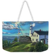 Lobster Cove Head Lighthouse, Rocky Harbour, Nl Weekender Tote Bag