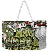 Lobster Pots Kilmore Quay, Wexford, Ireland, Poster Effect 1a Weekender Tote Bag