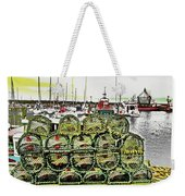 Lobster Pots Kilmore Quay, Wexford, Ireland Poster Effect 1b Weekender Tote Bag