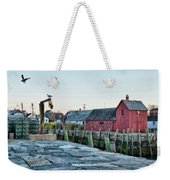 Lobster Pots On Rockports T Wharf Weekender Tote Bag by Jeff Folger