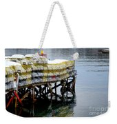 Lobster Traps In Winter Weekender Tote Bag