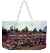 Lobster Traps Weekender Tote Bag by Jeff Kolker