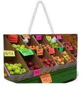 Local Apples For Sale Weekender Tote Bag