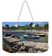 Local Boats In Harbour Weekender Tote Bag