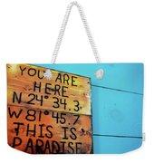 Location Paradise Weekender Tote Bag