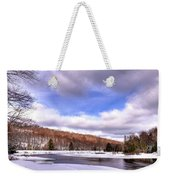 Lock And Dam Snowscape Weekender Tote Bag