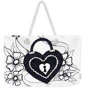 Locked Love Weekender Tote Bag