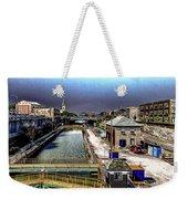 Lockport Canal Locks Weekender Tote Bag