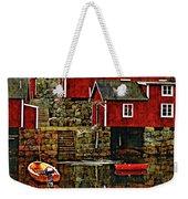 Lofoten Fishing Huts Overlay Version Weekender Tote Bag