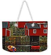 Lofoten Fishing Huts Weekender Tote Bag