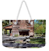 Log Cabin And Wooden Fence At Ninety Six National Historic Site 2 Weekender Tote Bag