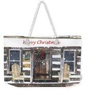 Log Cabin Christmas Weekender Tote Bag