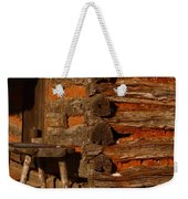 Log Cabin Weekender Tote Bag by Robert Frederick