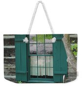 Log Cabin Window Weekender Tote Bag