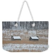 Log Cabins In Valley Forge Weekender Tote Bag