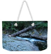Log Over Deep Creek Weekender Tote Bag