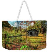Log Structure For Meat Storage Weekender Tote Bag