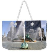 Logan Circle Fountain Weekender Tote Bag