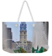Logan Circle Fountain With City Hall In Backround 3 Weekender Tote Bag